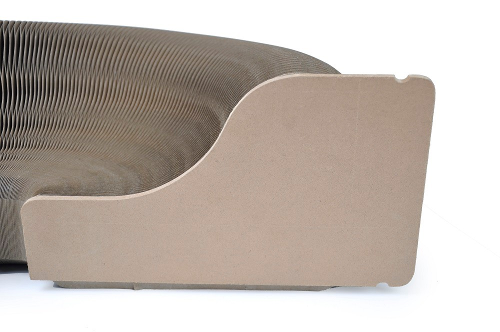 New design Taiwan Pet Product accordion Shape Cat Scratcher Lounge Corrugated Cat Scratcher House bed with catnip