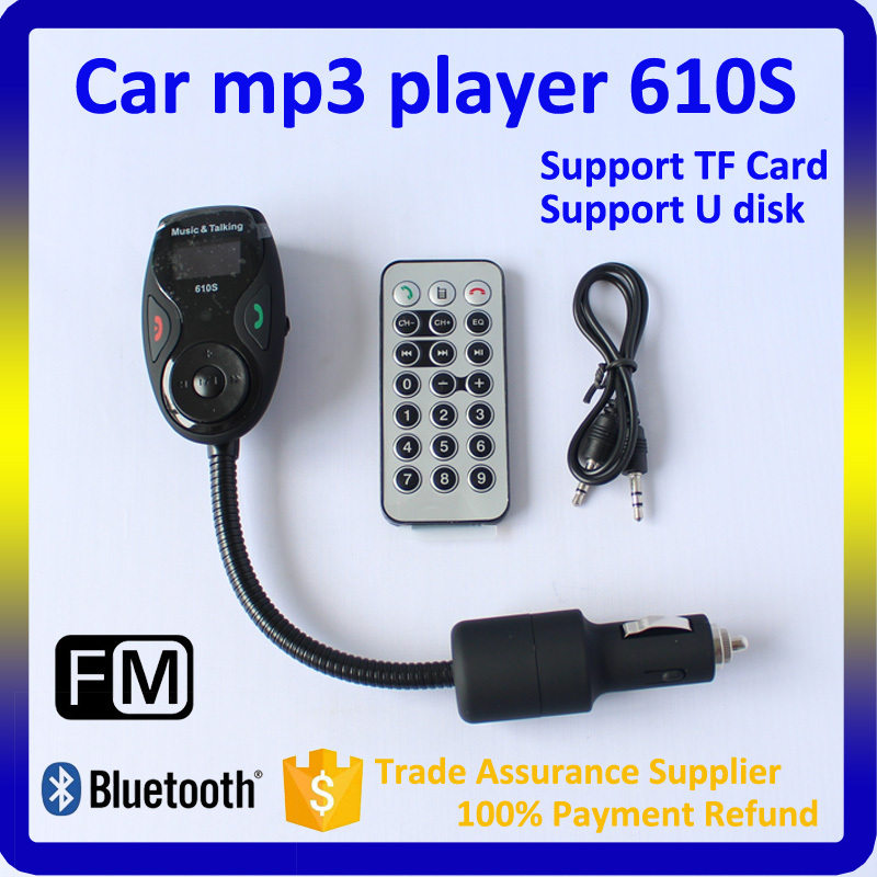 610S Bluetooth Car Kit, Car USB Adapter MP3 AUX with FM Transmitter