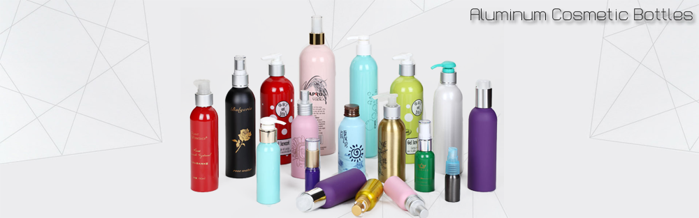 cosmetics packaging round shoulder aluminum shampoo bottle packaging