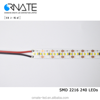 24v 120leds/m outdoor ip65 waterproof cheap price 2216 led strip