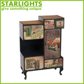 Newest low price modern and antique design wooden cabinet with many drawers for sale