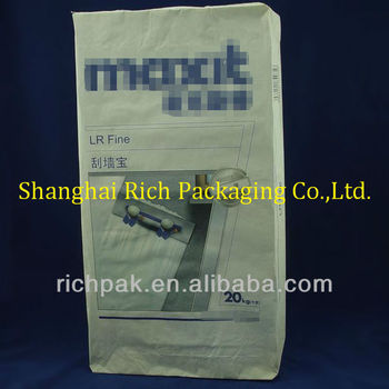 multiwall paper 20kg bag manufacturers for building materials
