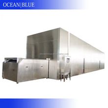 Liquid iqf stainless steel belt tunnel freezer for seafoods