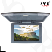 HD TV 17Inch Flip Down Roof Mount Car Monitor1024*600, Car RoofMount