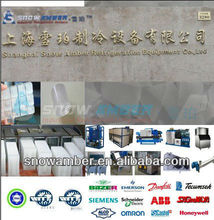 melting dry ice , water chiller, block, tube, cube, flake, cube ice machine