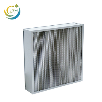 Durable fashion deep pleat hepa filter box with dividers wholesale