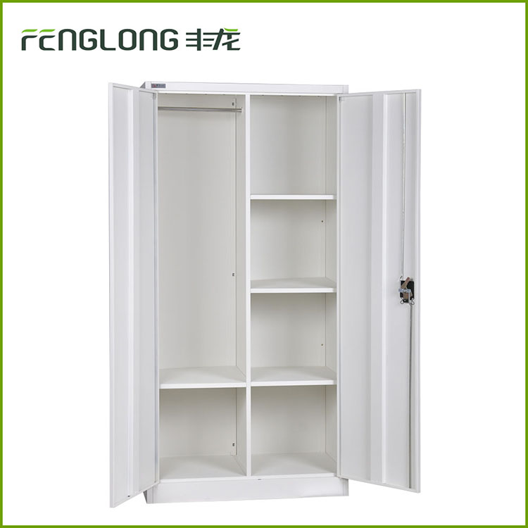 2 door steel clothes wardrobe wall cupboards style for bedrooms design