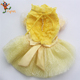 PGPC0720 Pink Yellow High Quality Pet Clothes Cat Dog Summer Party Princess Dress