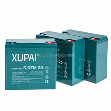 XUPAI Battery 6-dzm-20 12v 20ah*4pcs 12v 20ah Batteries Electric Scooter Made in China