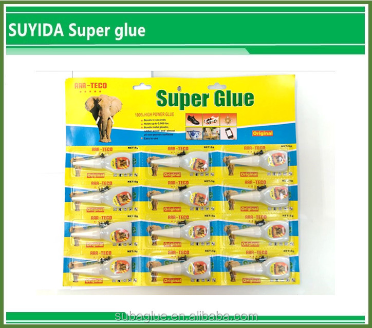 502 Super Fast Glue in Plastic Bottle card packing silicone sealant