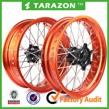 17 Inch CNC Aluminum Whole Set Motorcycle Wheel for KTM SX250