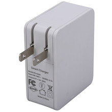 Dual port 2A usb home charger with qualcomm quick charger 2.0 technology