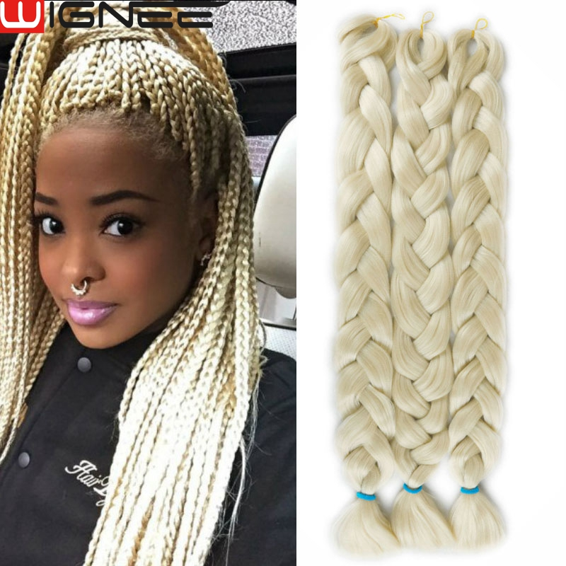613# Color Synthetic Crochet Jumbo Braiding Hair Yaki Straight Hairstyle Ombre Color Hair Extensions