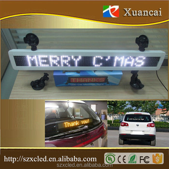 Hot! Bus 12V/24V One line text scrolling message advertising LED display for Bus