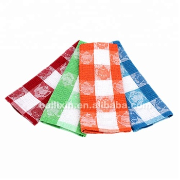 100% cotton yarn dyed waffle turkish used reusable kitchen towel