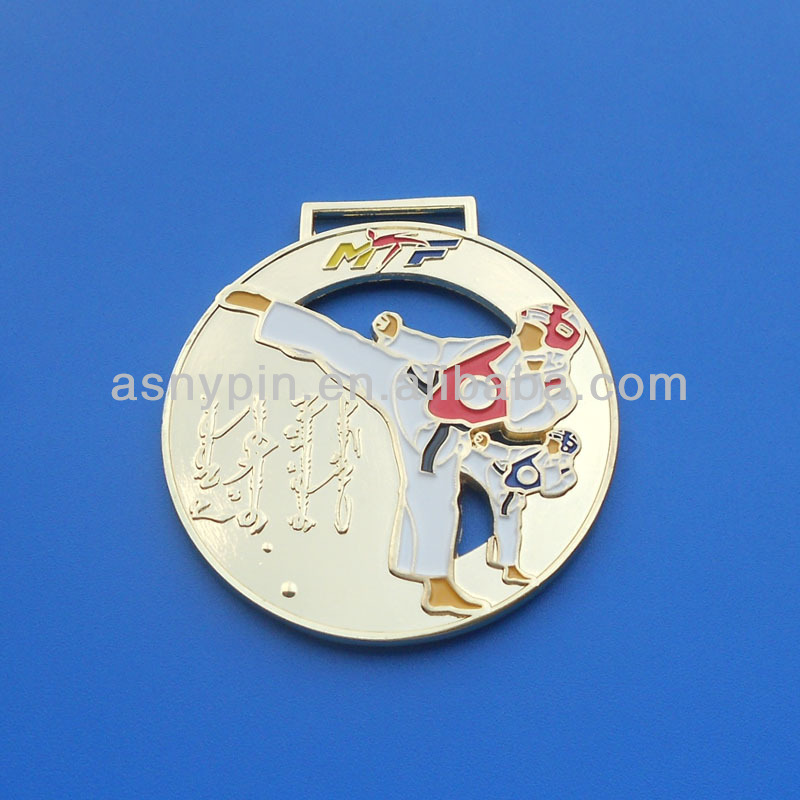 Taekwondo Sports Gold Medal Medallion