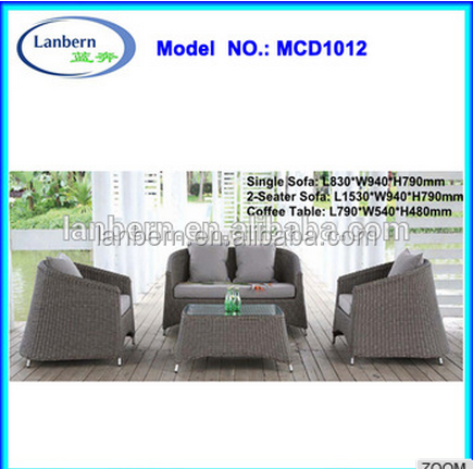Good quality garden outdoor sofa furniture price list MCD1012