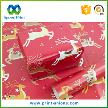 Custom glossy lamination printing gift wrapping paper