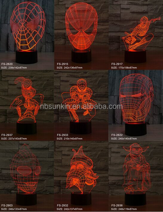 Beautiful color changing romantic 3d night light 3D LED Night Light