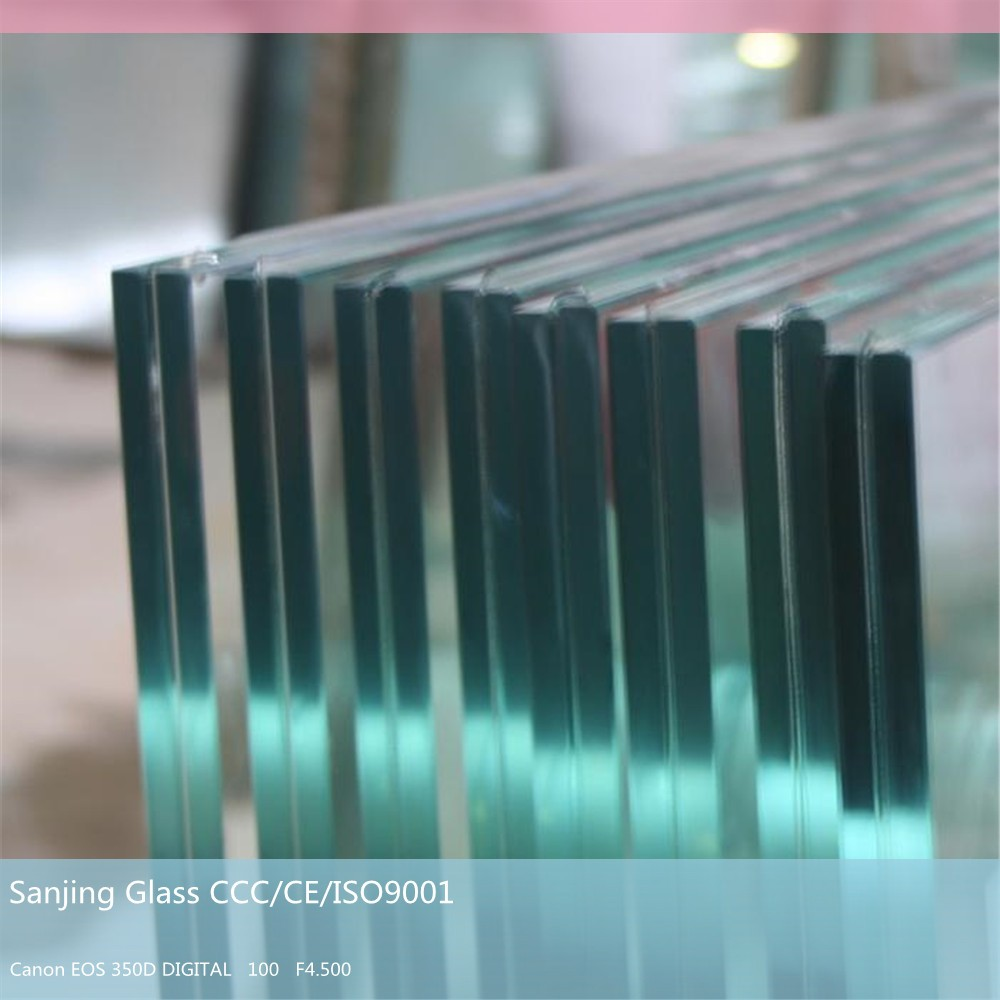 Sanjing Glass tempered glass for sunroom 12mm tempered glass