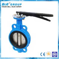 screw type manual wafer butterfly valve
