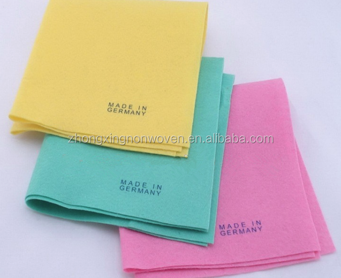 Germany Nonwoven Cleaning Cloth , Viscose Shamwow Cloth