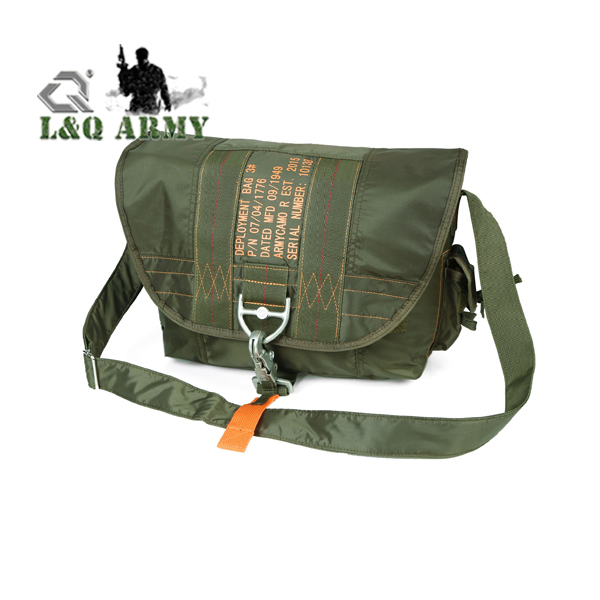 parachute  messager shoulder briefcase bag OD green