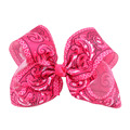 Large 7 Inch Print Hair Bow Wholesale Big Bows