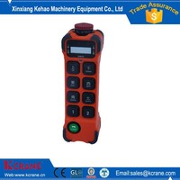 Rubber button high quality wireless crane radio remote control for overhead crane