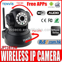 Wireless Pan Tilt WIFI Audio Webcam CCTV iPhone Android Tenvis JPT3815W IP Camera