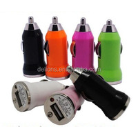 Colorful Mini Micro USB 2.0 Car Charger Adapter Colors Charging For Apple iphone 4 4S 5 5S 5C Samsung Blackberry HTC