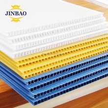JINBAO 4x8 48x96 3 mm plastic hollow bubble corrugated pp sheet