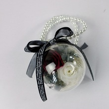 Acrylic Box Mini Craft Preserved Flowers Roses used as Car Hanging