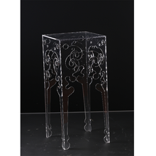 High quality clear acrylic small side table,clear plastic coffee table