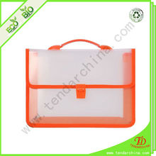 File Handbag With Plastic Clip For School Children Waterproof Briefcase