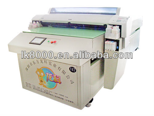 A0 flatbed eco solvent printer print size1118* 2500mm LK9880 8 colors High quality with high resolution brand name copiers