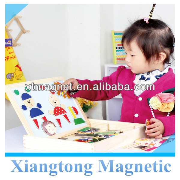 Hot Selling!! Best Qualtiy Educational Magnetic Tangram with Board for Kids / Magnetic Wooden Jigsaw Puzzles