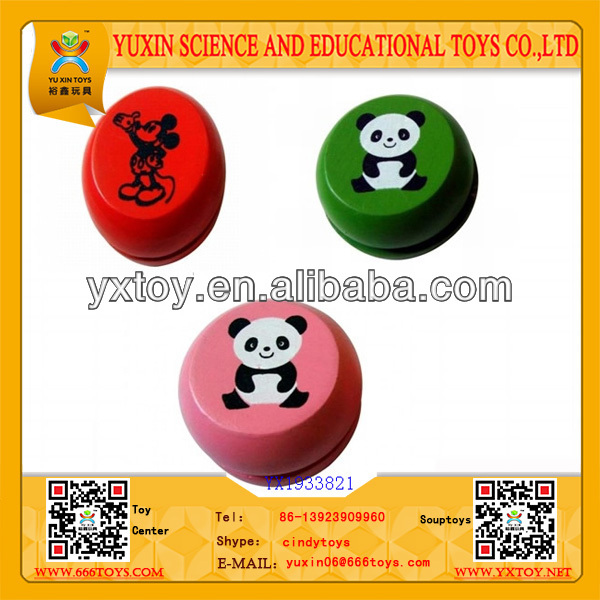 2014 new product promotion wooden jojo,printed wooden yoyo for promotion
