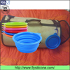 OEM factory price outdoor non-toxic dog cat feeding silicone pet bowl