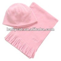 Fashionable Antipilling Fleece Scarf Hat Glove