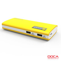 DOCA D566 Power Pack 13000mAh Extra Powerful yellow power bank for phone/MP3