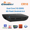 New Arrival CR10 RK3066 Dual Core XBMC Android TV Box with Microphone RAM 1G Flash 8G Build in Bluetooth4.0 & WiFi 2.4G&3.5mm AV