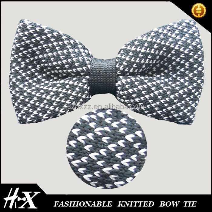 100% silk knitted bow tie