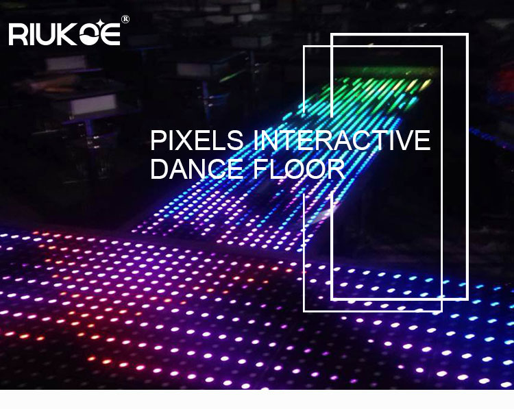 Music equipment dj light 8x8 pixel ABS digital led dance floor video