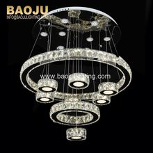 Home Decoration Modern Silver Designer Stained Glass Pendant Lighting Light