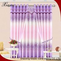 Popular 100 polyester yarn dyed stripe sheer curtain chenille horizontal thick fabric for curtains