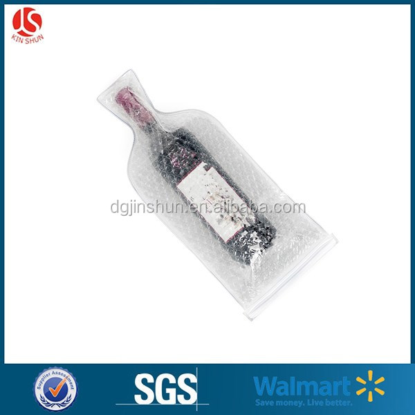 Wine Bottle Protection PVC Material double-bubble Wine Bags