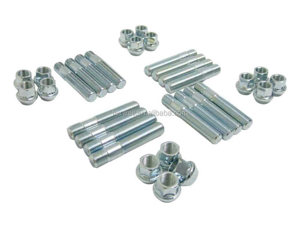 China professional manufacturer m24 stud bolt with nut
