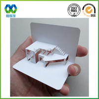 Blank creative 3d wedding invitation card low moq die cutting 3d wedding invitation paper card crafts
