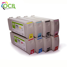 Ocbestjet 771 Recycle Ink Cartridge Recycling For HP 771 For HP Z6200 Z6600 Z6800 Inkjet Printer Remanufactured Ink Cartridge